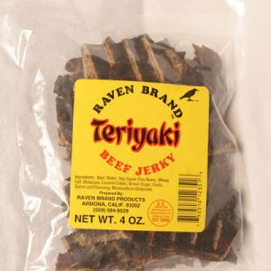Teriyaki Jerky 4oz Bag