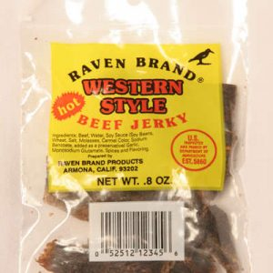 Western Style Jerky HOT .8oz Bag