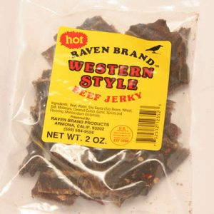 Western Style Jerky HOT 2oz Bag