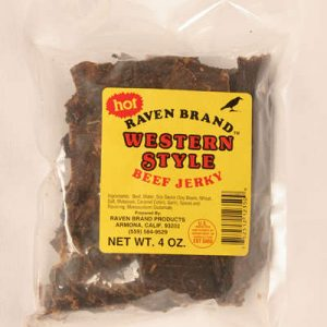 Western Style Jerky HOT 4oz Bag